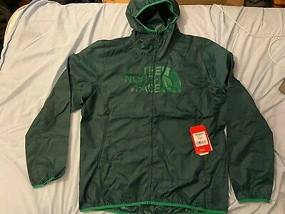 THE NORTH FACE Men's Drew Peak Windwall Jacket XL - Night Green Lightweight NEW