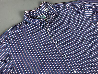 The North Face Short Sleeve Button Front Shirt Size XL Blue Striped Sea Otter