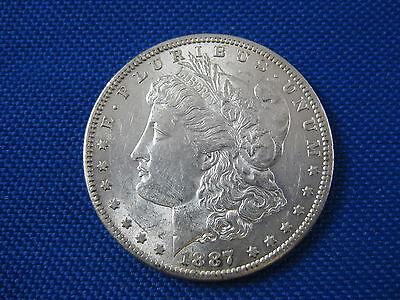 1887 S U.S. MORGAN SILVER DOLLAR COIN