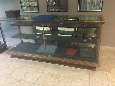 8 Foot Long Elegant Glass Wood Display Case Fixture Showcase Shop Table Decor