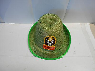 Jagermeister Derby Style GREEN Straw Hat.  MC39