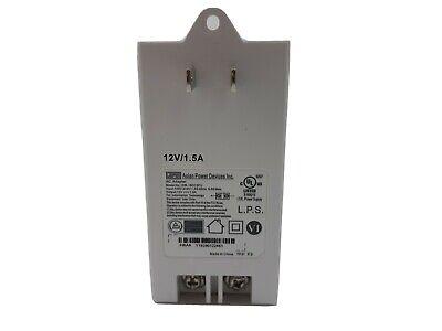 Power Supply Plug-in Transformer 120vac 60hz 0.5a Output 12vdc 1.5a