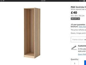 Looking for ikea pax wardrobe white stained oak 50x58x201cm