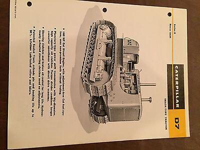 Cat Caterpillar D7 Tractor Dozer Crawler Brochure Original Antique