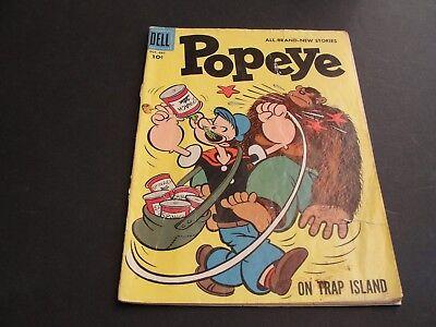 "POPEYE- The Sailor on ""Trap Island!"" #42 Dell 1957 10 CENT Silver Age -Comic."