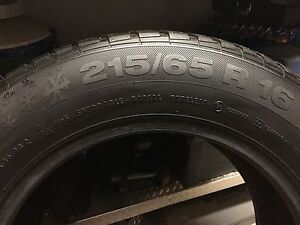 (1) ICE CONTACT 215/65 R16 M+S TIRE Peterborough Peterborough Area image 2