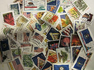 US postage stamp lots ALL DIFFERENT USED USA MOSTLY RECENT STAMPS FREE SHIPPING
