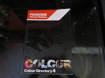 RARE 1980'S PARSONS VEHICLE FINISHES COLOUR DIRECTORY 4 1950'S TO 1980'S