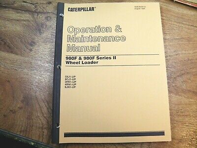 Cat Caterpillar 980f 980f Series Ii Operation Maintenance Manual 5xj 8cj 3hk