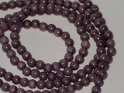 4MM AMETHYST PEARL ROUND GLASS SPACER BEADS FASHION JEWERLY MAKING 100 PIECES