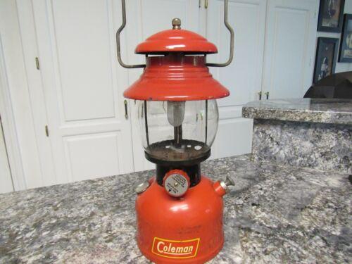 Vintage Red Coleman Model 200A  Lantern Tested Dated 6-52 Black Band