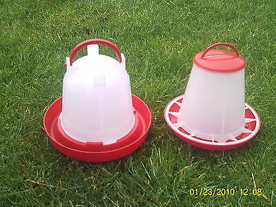 1kg Feeder & 1.5Ltr Drinker Economy Chicken/Poultry/Chick/Hen Food And Water