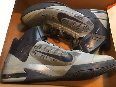 New Nike Mens air max fly by basketball  Shoes 429545-004 sz 17 grey & black