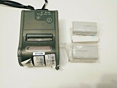 Very Good Epson Tm-p60 M196a Pos Wireless Mobile Receipt Printer 3x Batteries
