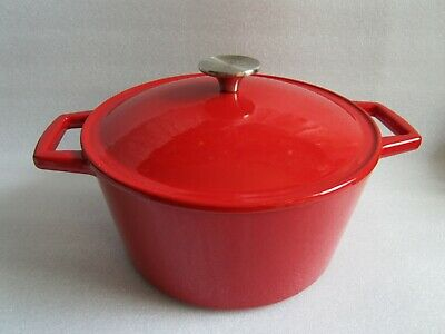Original Artisanal Kitchen Supply 5 Qt. Enameled Cast Iron Dutch Oven in -