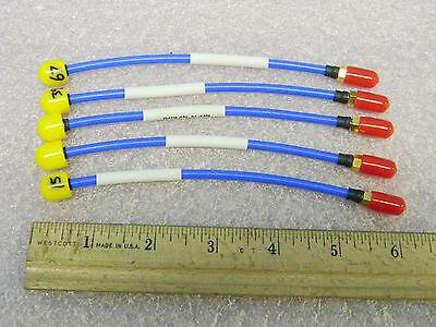 5 New Teledyne 920-10036-003 Rf Stormflex141 Cables Dc-18ghz Smam-f 5-34
