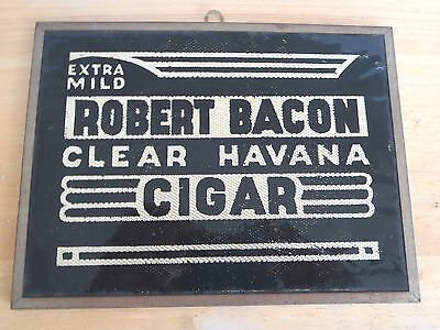 VERY RARE ORIGINAL 1920'S ROBERT BACON CIGAR TOBACCO SIGN CIGARETTE NICE