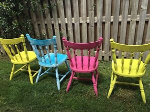 Painted Timber Chairs Brassall Ipswich City Preview