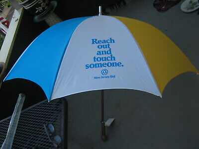 "HTF Vintage NJ Bell Telephone ""Reach Out & Touch Someone"" Umbrella VTG Retro NWT"