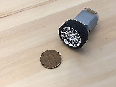 1 Set 130 Motor 26mm Diameter Rubber Car Robot Tire Wheel Dc Motor C32