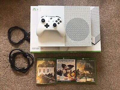 Xbox One S 500 gb Console With Unused Controller And 3 Games