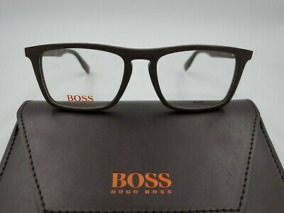 New Hugo Boss Orange Eyeglasses 0322 2X0 Matte Brown Wood RX FRAMES UNISEX (Eyeglasses Wood)