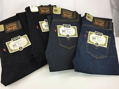 NWT Authentic Levis 511 Slim Fit Skateboarding Jeans Black, Blue Many Sizes