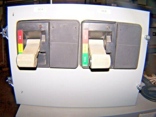 """CUTLER HAMMER 2100 SERIES MCC 50 AMP DUAL MOTOR CONTROL BUCKET HFD3050 12"""" DOOR"""