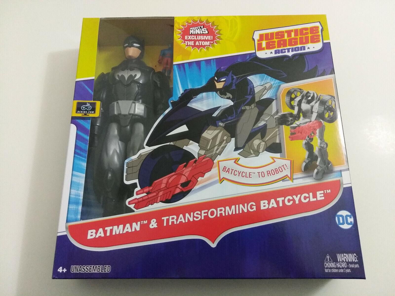 DC Comics Justice League Action Batman & Transforming Batcyc