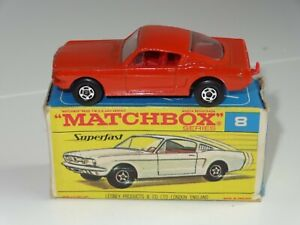 (B) matchbox lesney superfast FORD MUSTANG orange / red - 8 rare F box