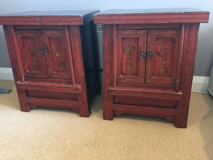 SIDE TABLES antique Chinese with decorative doors. chinese cabinet in Sydney Region  NSW   Gumtree Australia Free