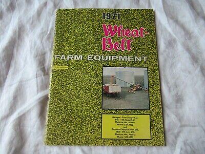 1971 Wheat-belt Farm Equipment Catalog Kubota L-200 Tractor Wisconsin Engines