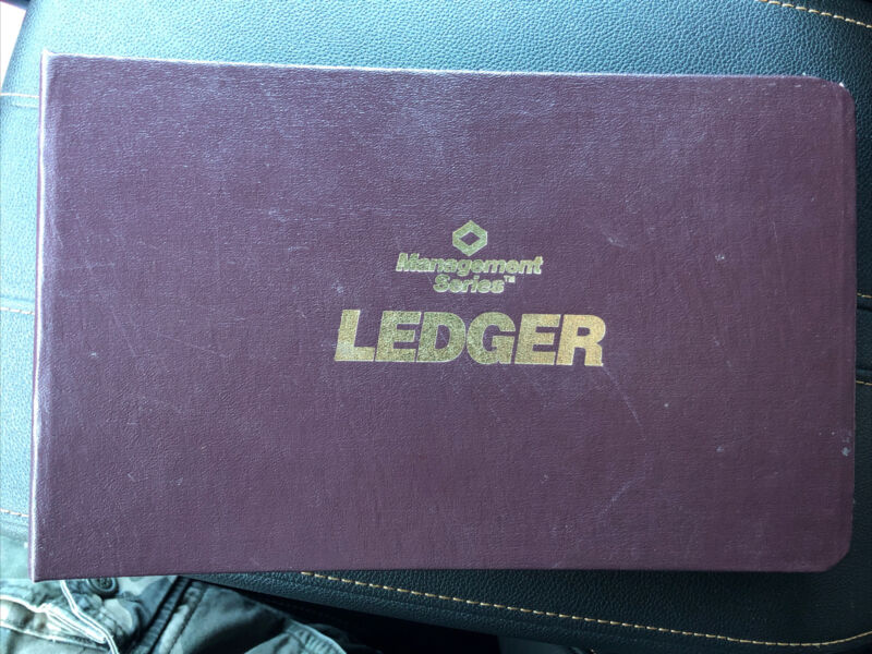 Vintage Unused Mead Management Series Accounting Ledger Outfit 1986
