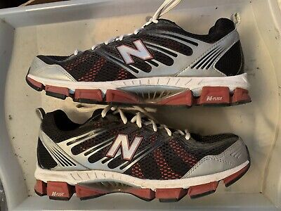 New Balance N-Fuse 710 All Terrain Black Silver Red Lace Up Trainers UK Size 9.5