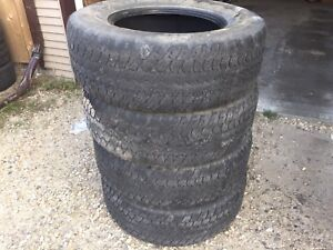 Goodyear wrangler A/Ts tires 265/70r17 with 50% tread