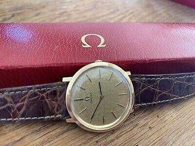 Vintage 1965 Gents 9ct Solid Gold Omega ref1115067 Cal.620 boxed original strap