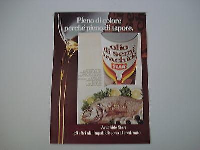 advertising Pubblicità 1973 OLIO DI SEMI DI ARACHIDE STAR