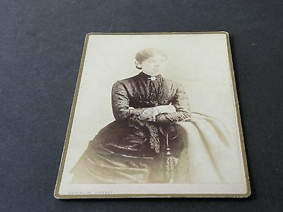 1890's-Victorian Fashionable Woman-Cabinet Photo by Furman,Rochester, New York.