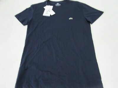 NWT MEN'S LACOSTE 100% PIMA COTTON SS TENNIS CREW (NAVY / MARINE) TH5275. $50