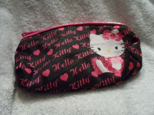 pink and black Hello Kitty cosmetic bag