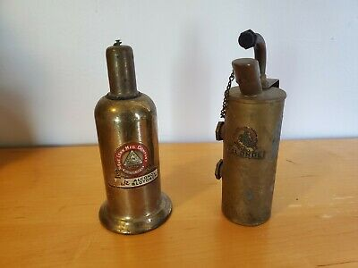 "VINTAGE Lenk Mfg. Company Brass Champion Alcohol Blow Torch's 7"" Lot."