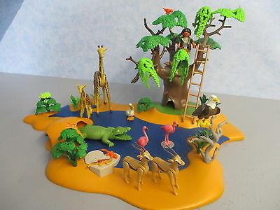 4827 Wild Life Safari Wasserstelle zu 4826 6936 Tiere Afrika Playmobil 9474