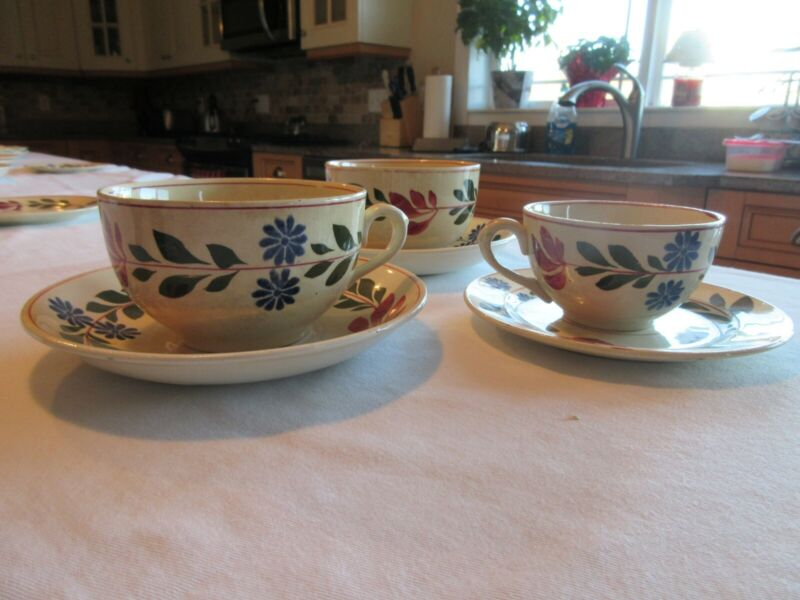 2x Large Titian ware Saucer and tea cup 1x Small Tea cup and Saucer *Make Offer*