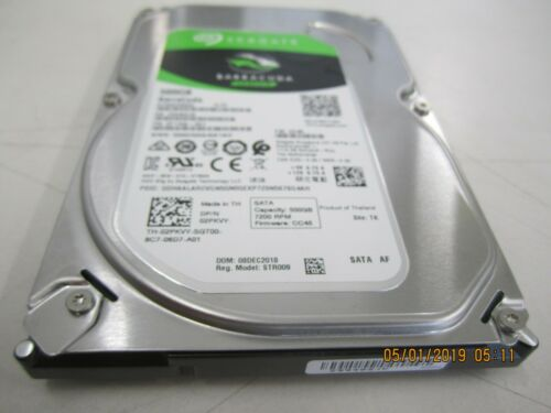 Seagate Barracuda 500GB Internal SATA Hard Drive for Desktops Black/Silver ST500DM009SP