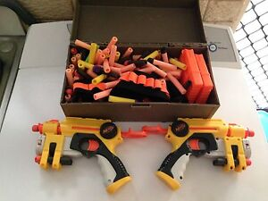 2 NERF GUNS & A CASE OF AMMO Browns Plains Logan Area Preview