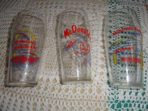 mCDONALDS GLASSES (3)  EXCELLENT CONDITION, GREAT GRAPHICS