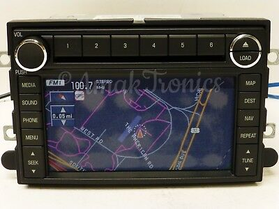 08 09 FORD MERCURY NAVIGATION GPS RADIO 6 DISC CHANGER MP3 CD PLAYER OEM STEREO for sale  Sugar Land