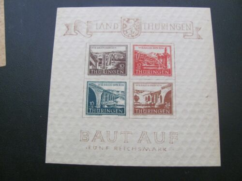 SBZ Thüringen 1946 TYPE 1 postfrisch ** MNH