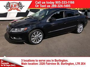 2013 Volkswagen CC Highline, Manual, Leather, Sunroof, 80, 000km