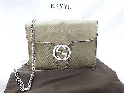 0f0a059476f NWT Gucci Interlocking G Mini Leather Chain Crossbody Shoulder Bag